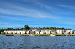 Дворец Karlberg или замок Karlberg в Стокгольме, Швеции Стоковая Фотография