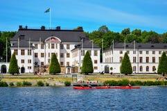 Дворец Karlberg или замок Karlberg в Стокгольме, Швеции Стоковая Фотография RF