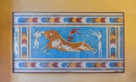 Дворец Knossos, Крита, Греции Стоковое Изображение
