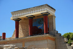 Дворец Knossos на острове Крита Стоковая Фотография RF