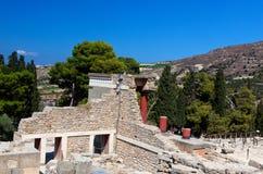 Дворец Knossos остаток, Крит, Греция Стоковое Фото