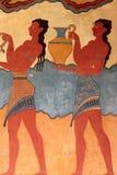 дворец knossos frescoes детали Стоковая Фотография