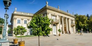 Дворец Lazienki, парк Lazienki в Варшаве, Польше Южный фасад Стоковая Фотография