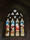 Дворец Linlithgow, цветное стекло Стоковое Изображение RF