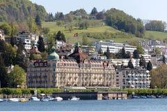 Дворец Luzern озером Люцерном Стоковое Фото