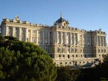 дворец madrid королевский стоковое изображение rf