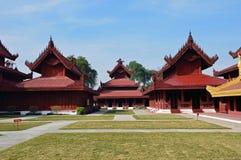 дворец mandalay стоковое фото rf