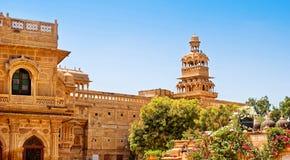 Дворец Mandir в Jaisalmer, Раджастхане, Индии Стоковые Изображения RF