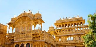 Дворец Mandir в Jaisalmer, Раджастхане, Индии Стоковые Фотографии RF