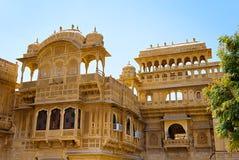Дворец Mandir в Jaisalmer, Раджастхане, Индии Стоковое Изображение