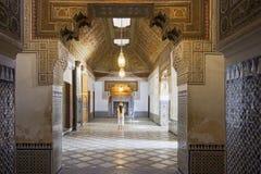 Дворец Marrakech Бахи Стоковые Фотографии RF