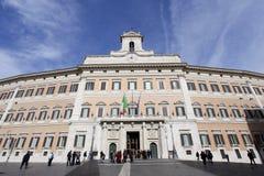 Дворец Montecitorio в Рим стоковое фото rf