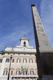 Дворец Montecitorio в Рим стоковое фото