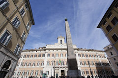 Дворец Montecitorio в Рим стоковая фотография