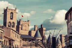 Дворец Olite королевский Стоковые Фото