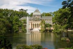 Дворец Palacio de cristal кристаллический в парке Buen Retiro - Мадриде Стоковые Фото