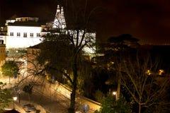 Дворец Palacio Nacional de Sintra Sintra национальный также вызвал Городок Дворец с определенными печными трубами на типичный тум стоковое фото
