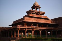 Дворец Panch Mahal, Fatehpur Sikri, Уттар-Прадеш стоковое изображение