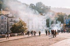 Дворец Pena, рядом с Лиссабоном Стоковая Фотография RF