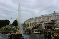 Дворец Peterhoff, Санкт-Петербург Стоковая Фотография