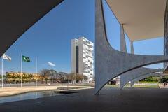 Дворец Planalto и национальный конгресс - Brasilia, Distrito федеральное, Бразилия стоковые изображения