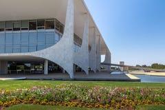 Дворец Planalto официальное рабочее место бразильского президента - Brasilia, Distrito федерального, Бразилии стоковое фото