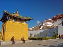 Дворец Potala, Тибет Стоковое Изображение