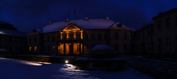 Дворец Potocki на Krakowskie Przedmiescie, Варшаве Стоковое Фото