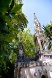 Дворец Regaleira в Sintra Стоковая Фотография RF
