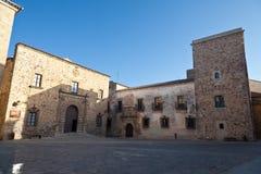 дворец s архиепископа caceres Касы de ovando Стоковое Фото