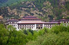 Дворец ` s короля Дворец Samteling или королевский коттедж Резиденция присутствующего короля Бутана thimphu стоковые фото