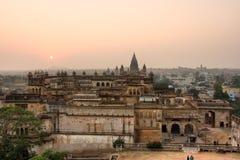 дворец s orchha Индии зодчества Стоковое Изображение