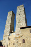 дворец san Италии gimignano стоковое фото rf