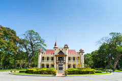Дворец Sanamchan в Nakornpathom, Таиланде Стоковые Фото
