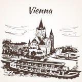 Дворец Schönbrunn, вена иллюстрация вектора