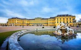 Дворец Schonbrunn, имперская резиденция лета в вене стоковое фото