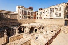 Дворец Shirvanshahs в Баку стоковое фото rf