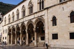 Дворец Sponza, Дубровник, Хорватия стоковое изображение rf