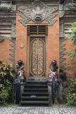 Дворец Ubud входной двери, Бали Стоковые Изображения