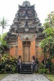 Дворец Ubud входной двери, Бали Стоковые Изображения RF