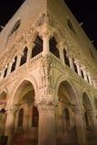 дворец venice ночи doge Стоковое Фото