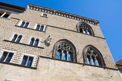 Дворец Vitelleschi. Tarquinia. Лацио. Италия. стоковые изображения rf