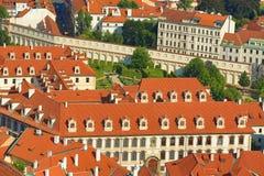 Дворец Wallenstein, замок Праги, панорама Праги, чехии Стоковые Фотографии RF