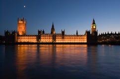 дворец westminster ночи Стоковая Фотография