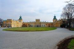 Дворец Wilanow, одна из самой важной в Варшаве Стоковые Изображения RF