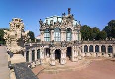 Дворец Zwinger, XVIII столетие - известное историческое здание в Дрездене стоковое фото