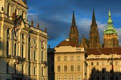 Дворца архиепископа, квадрата Hradcanske, Праги, чехии Стоковая Фотография