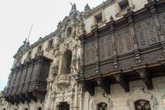 Дворца архиепископа - Лимы, Перу Стоковые Изображения