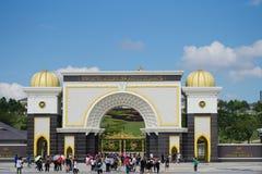 Дворца королевского короля также известного как Istana Negara стоковое изображение rf