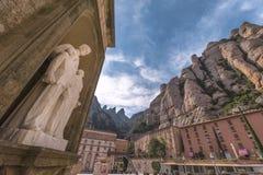 Двор аббатства Монтсеррата Стоковое Фото